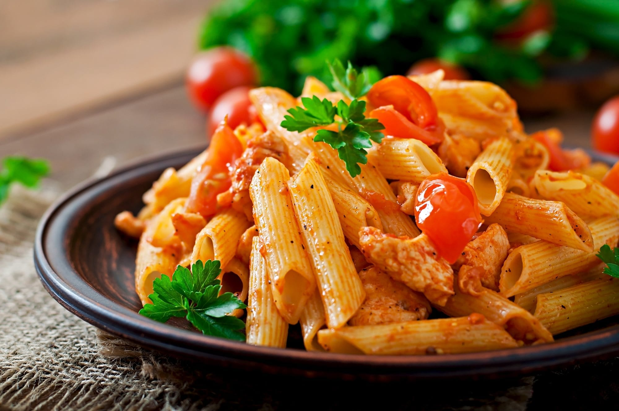 penne pasta with sauce